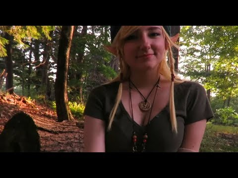 Linkle in the lost woods with a cuccoo